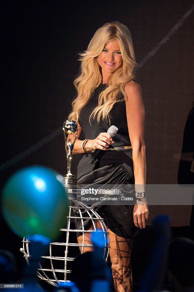 Victoria Silvstedt on stage during the ceremony of the World Music Awards 2014 at Sporting Monte-Carlo on May 27, 2014 in Monte-Carlo, Monaco.