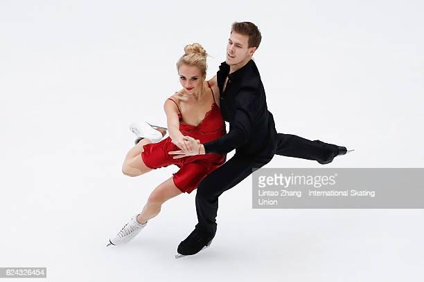 Victoria Sinitsina and Nikita Katsalapov of Russia compete in the Ice Dance Free Dance on day two of Audi Cup of China ISU Grand Prix of Figure...