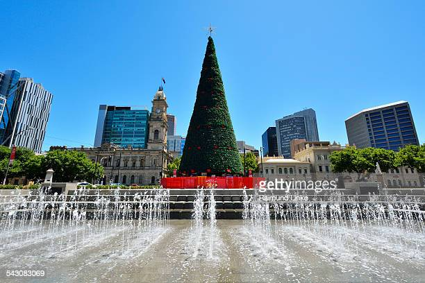 Victoria Square Water Game and  Christmas Tree