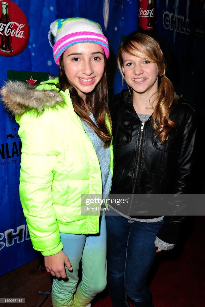 Victoria Strauss and Lauren Suthers arrive at the CHILL-OUT closing night concert at The Queen Mary on January 6, 2013 in Long Beach, California.