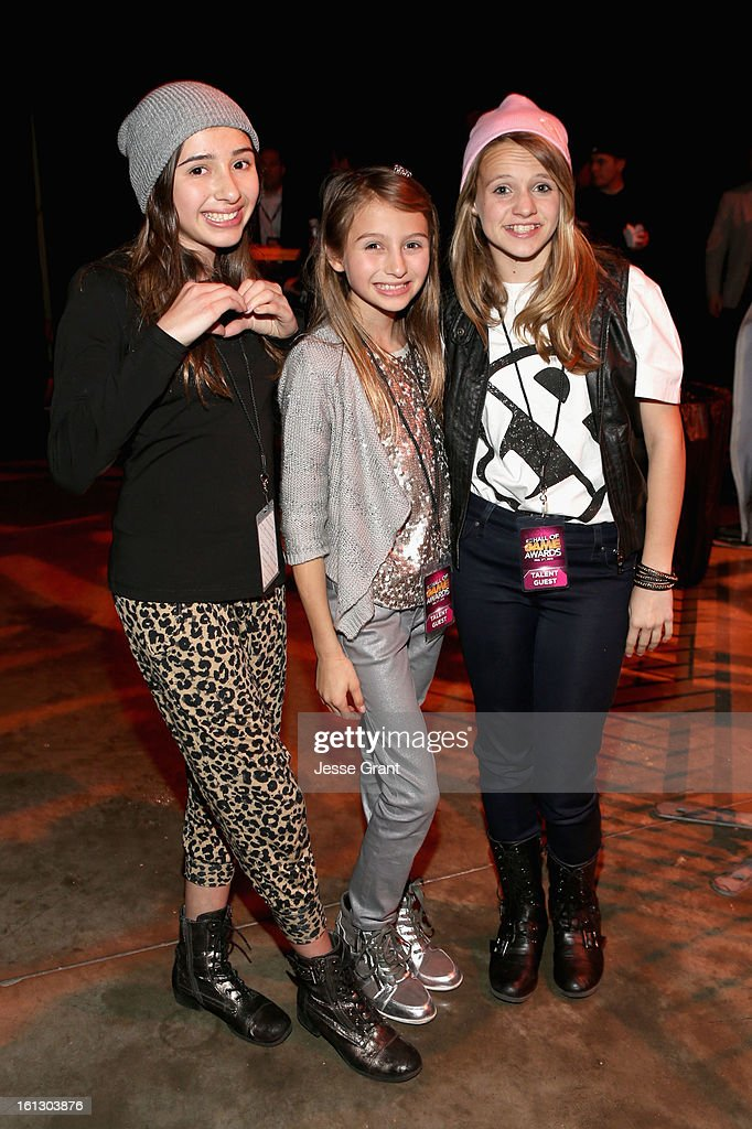 Victoria Strauss, Sophia Strauss and Lauren Suthers attend the Third Annual Hall of Game Awards hosted by Cartoon Network at Barker Hangar on February 9, 2013 in Santa Monica, California. 23270_005_JG_0063.JPG