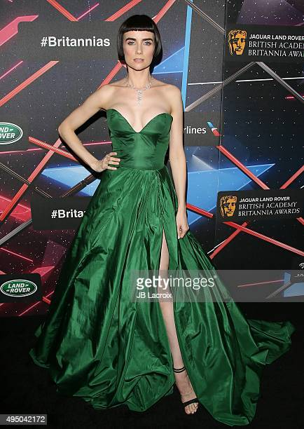 Victoria Summer attends the 2015 Jaguar Land Rover British Academy Britannia Awards presented by American Airlines at The Beverly Hilton Hotel on...