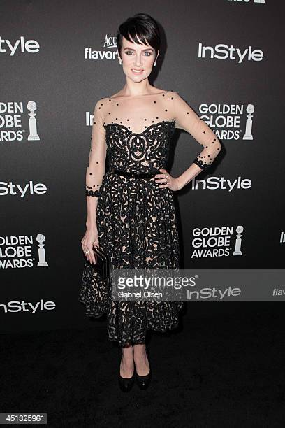 Victoria Summer attends The Hollywood Foreign Press Association And InStyle Celebrates The 2014 Golden Globe Awards Season at Fig Olive Melrose Place...