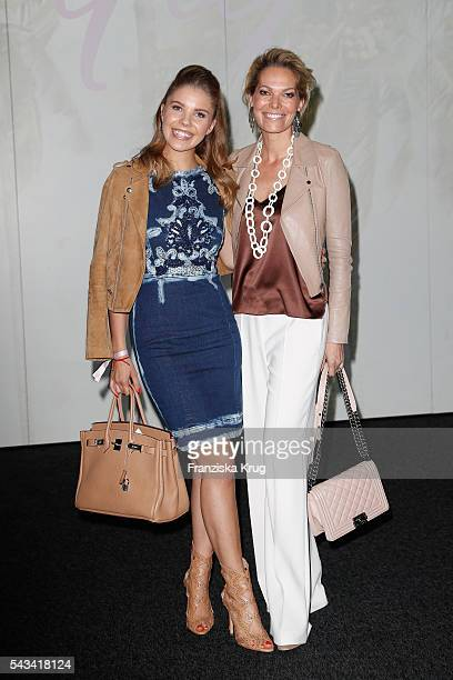 Victoria Swarovski and Alexandra Swarovski attend the Marc Cain fashion show spring/summer 2017 at CITY CUBE Panorama Bar on June 28 2016 in Berlin...