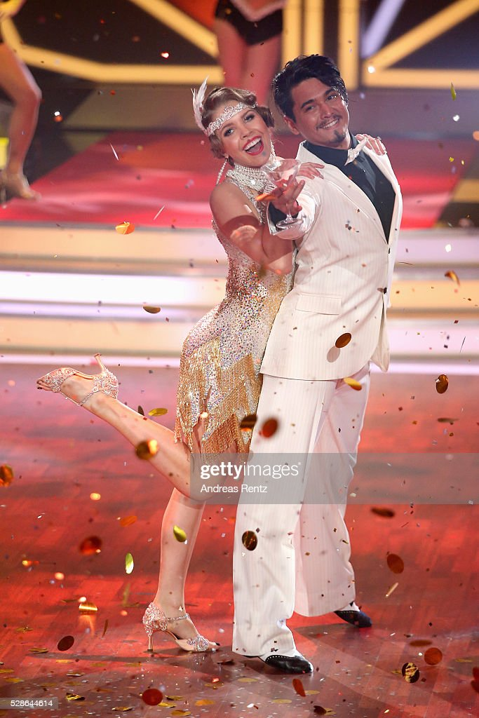Victoria Swarovski and Erich Klann perform on stage during the 8th show of the television competition 'Let's Dance' on May 6, 2016 in Cologne, Germany.