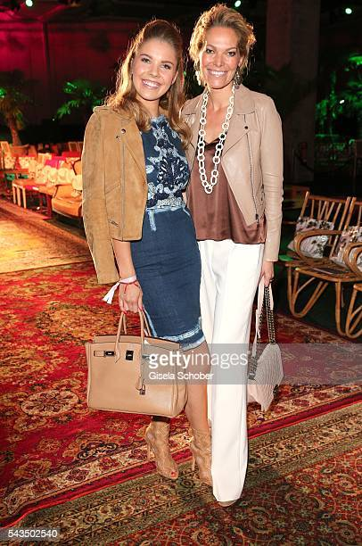 Victoria Swarovski and her mother Alexandra Swarovski during the Marc Cain fashion show spring/summer 2017 at CITY CUBE Panorama Bar on June 28 2016...