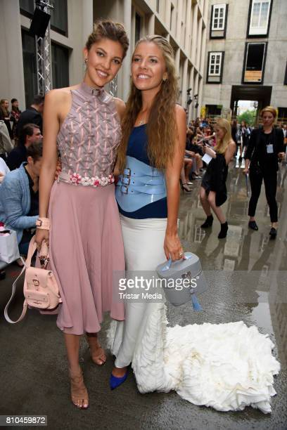 Victoria Swarovski and her sister Paulina Swarovski attend the Marina Hoermanseder show during the Berliner Mode Salon Spring/Summer 2018 at...