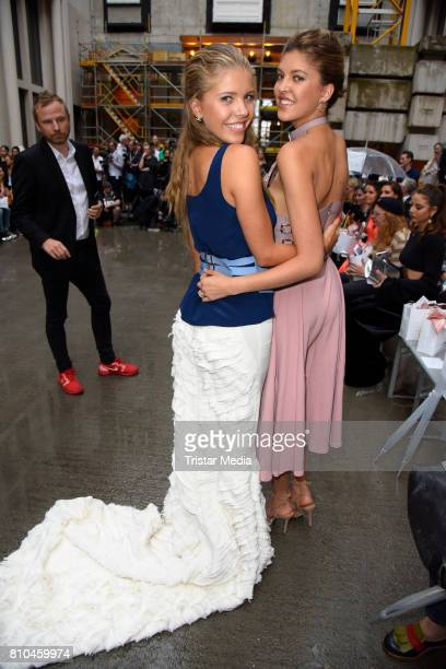 Victoria Swarovski and her sister Paulina Swarovski attend the Marina Hoermanseder show during the Berliner Mode Salon Spring/Summer 2018 at...