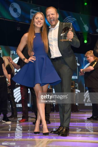Victoria Swarovski and Mario Barth attend the Radio Regenbogen Award 2017 After Party at EuropaPark on April 7 2017 in Rust Germany