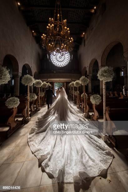 Victoria Swarovski attends her wedding to Werner Muerz on June 16 2017 in Trieste Italy