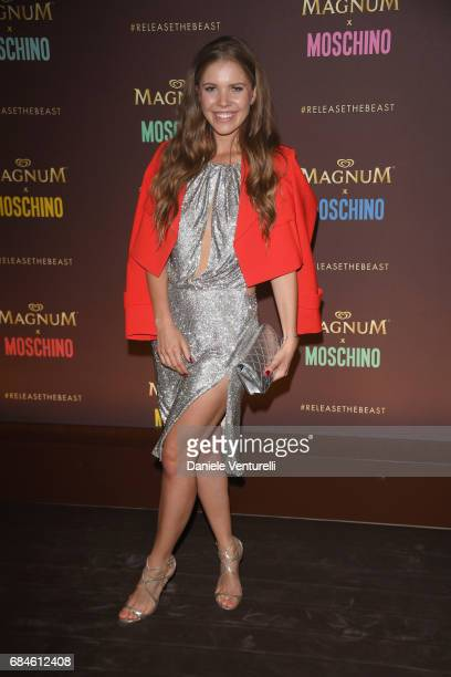 Victoria Swarovski attends Magnum party during the 70th annual Cannes Film Festival at Magnum Beach on May 18 2017 in Cannes France