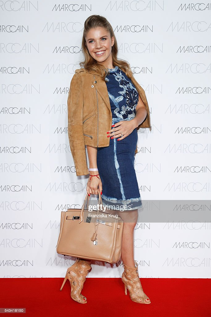Victoria Swarovski attends the Marc Cain fashion show spring/summer 2017 at CITY CUBE Panorama Bar on June 28, 2016 in Berlin, Germany.