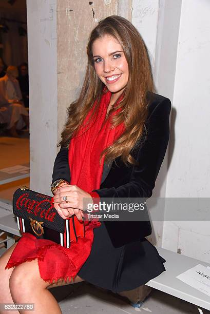Victoria Swarovski attends the Perret Schaad show during the MercedesBenz Fashion Week Berlin A/W 2017 at Kaufhaus Jandorf on January 18 2017 in...