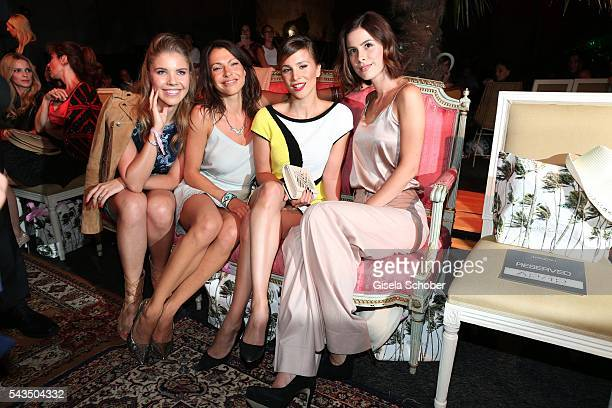 Victoria Swarovski Jana Pallaske Aylin Tezel and Lena MeyerLandrut during the Marc Cain fashion show spring/summer 2017 at CITY CUBE Panorama Bar on...