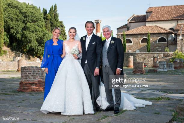 Victoria Swarovski Werner Muerz Alexandra Swarovski and partner Michael Heinritzi attend the wedding of Victoria Swarovski and Werner Muerz on June...
