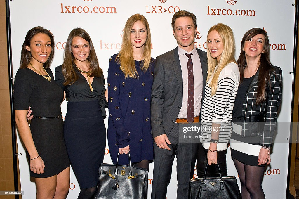 Victoria Tarkhan, Jane Lerman, <a gi-track='captionPersonalityLinkClicked' href=/galleries/search?phrase=Chiara+Ferragni&family=editorial&specificpeople=6755910 ng-click='$event.stopPropagation()'>Chiara Ferragni</a>, Jean-Philippe Robert, Shea Marie; and Aurelie Letizia attend the LXR & Co E-Commerce Launch At Empire Hotel Hosted By <a gi-track='captionPersonalityLinkClicked' href=/galleries/search?phrase=Chiara+Ferragni&family=editorial&specificpeople=6755910 ng-click='$event.stopPropagation()'>Chiara Ferragni</a> (The Blonde Salad) & Shea Marie (Peace, Love, Shea) at Empire Hotel on February 11, 2013 in New York City.