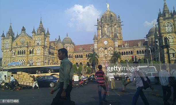 Victoria Terminus station in Mumbai India