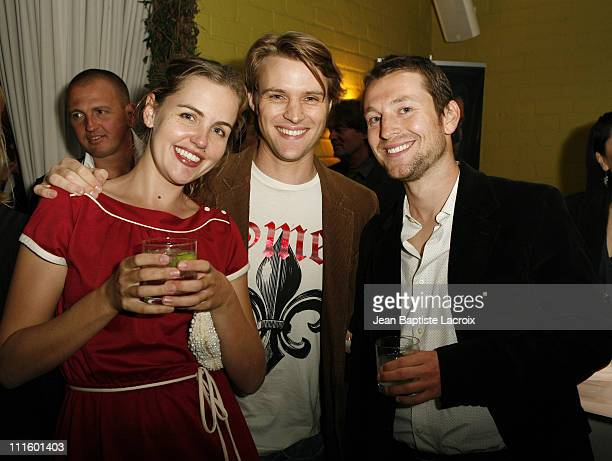 Victoria Thaine Jesse Spencer and Leigh Whannell during Australians in Film 2007 Breakthrough Awards Inside at Avalon Hotel in Beverly Hills...