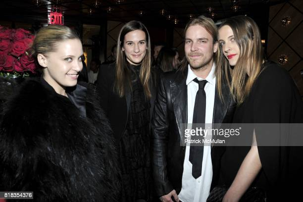 Victoria Traina Alexandra Fritz Chad Muska and Vanessa Traina attend CHANEL DINNER IN HONOR OF VANESSA PARADIS FOR ROUGE COCO at the Mark Hotel on...