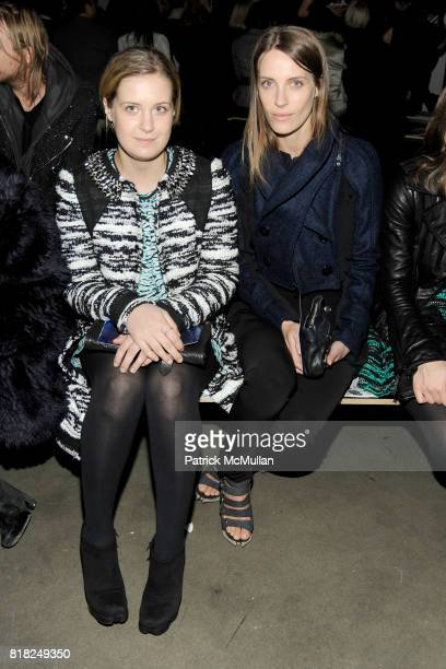 Victoria Traina and Vanessa Traina attend PROENZA SCHOULER Fall 2010 Collection at Mil on February 17 2010 in New York City