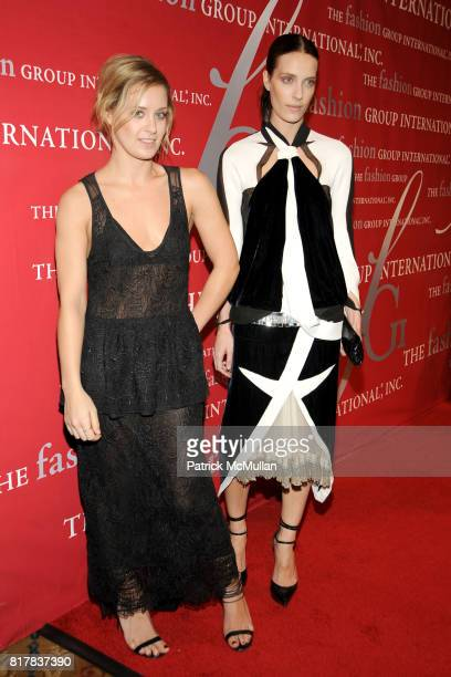 Victoria Traina and Vanessa Traina attend The Fashion Group International 'NIGHT OF STARS' 2010 at Cipriani Wall Street on October 28 2010 in New...