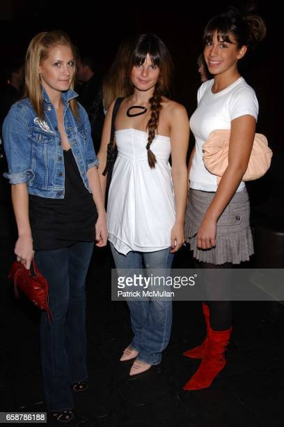 Victoria Traina katherine Holstein and Marina Hartogs attend Teen Vogue and Amy Astley screening of 'Dirty Dancing Havana Nights' at Bryant Park...