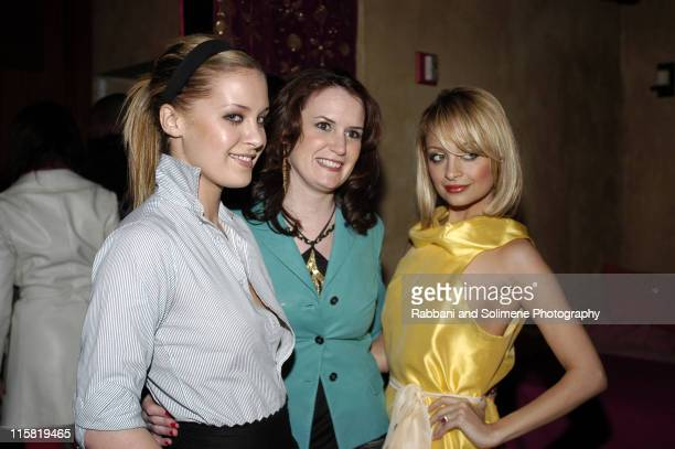 Victoria Traina Susan Schulz and Nicole Richie during CosmoGIRL Magazine Party Hosted by Nicole Richie Featuring DJAM at Earth NYC in New York City...