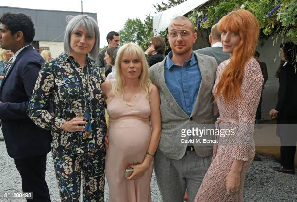 Victoria Williams Scarlett Carlos Clarke Tom Beard and Florence Welch attend Greta Bellamacina and Robert Montgomery's wedding on July 8 2017 in...