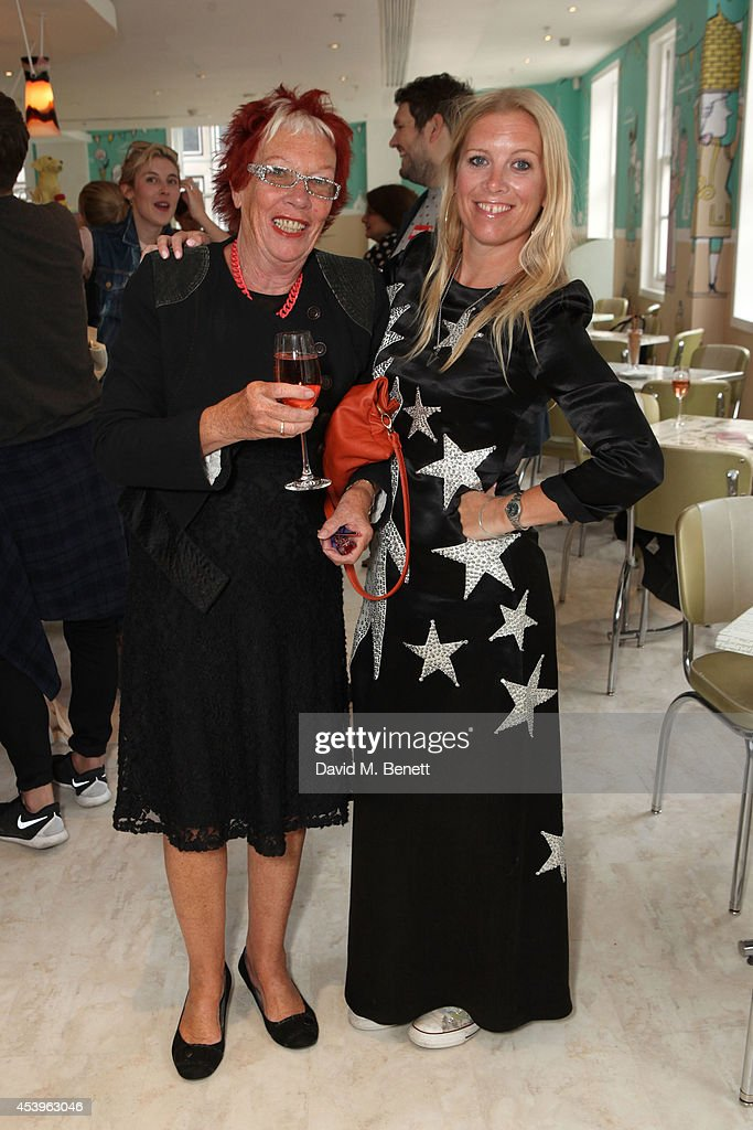 Victoria Young and her mother, Linda attend the launch of Victoria Young x MYFLASHTRASH, a jewellery collaboration between Amber Atherton and Victoria Young, at Fortnum & Mason's newly refurbished The Parlour restaurant on August 22, 2014 in London, England.