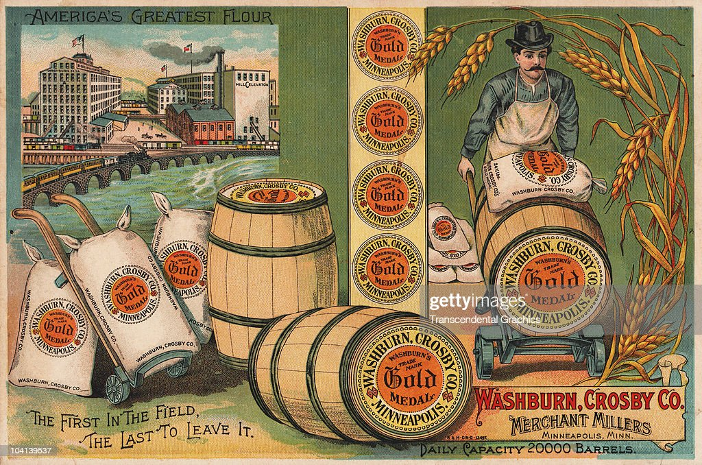 Victorian advertising trade card from the flour manufacturer Washburn Crosby Company of Minneapolis ca 1885