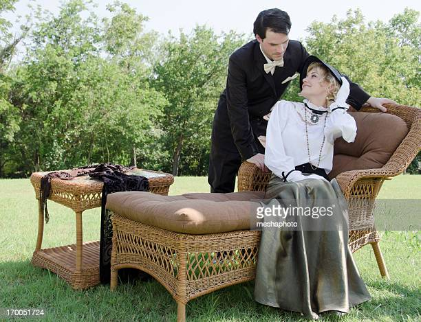 Victorian Paar in Liebe