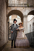 Victorian Couple walking