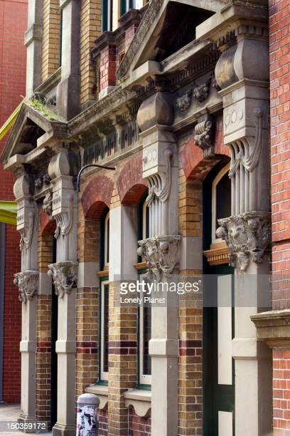 Victorian Era brick building.