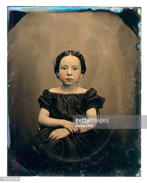 Victorian Girl - Old Tintype Photograph