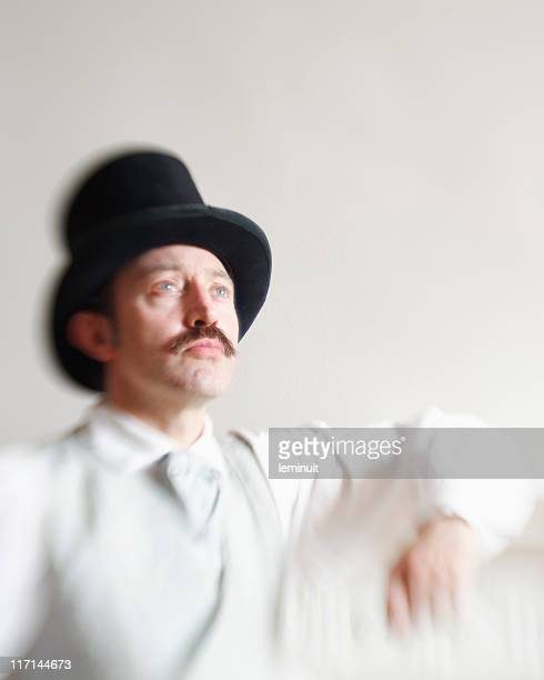 Victorian man with a top hat