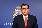 Victorian Premier Daniel Andrews speaks to the media in relation to the Sydney hostage incident at Victoria Police Complex on December 15 2014 in...