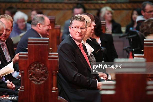 Victorian Premier Denis Napthine attends the Multifaith memorial service held for victims of the MH17 disaster at St Paul's Cathedral on July 24 2014...