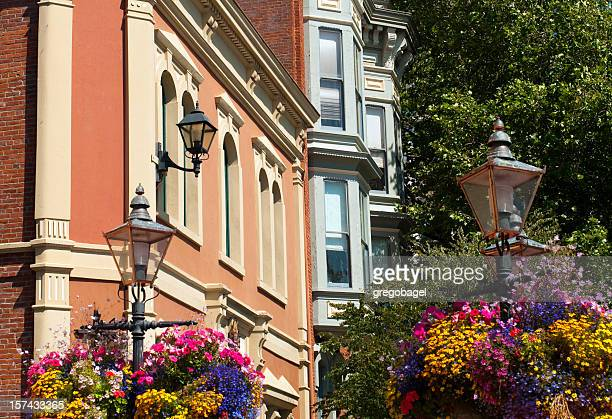 Victorian style buildings in Victoria, British Columbia