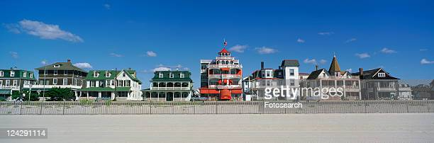 Victorian style homes overlooking the beach in Cape May