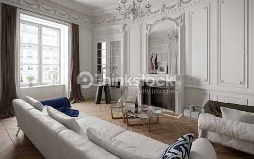 Stile vittoriano soggiorno con mobili moderni foto stock for Immagini living moderni