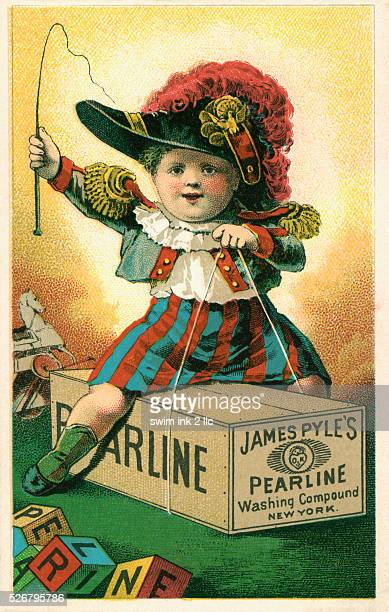 Victorian Trading Card Ad for James Pyle's Pearline Soap