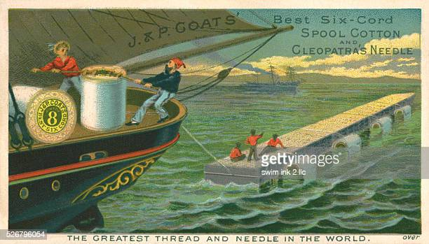 Victorian Trading Card for JP Coats' Spool Cotton