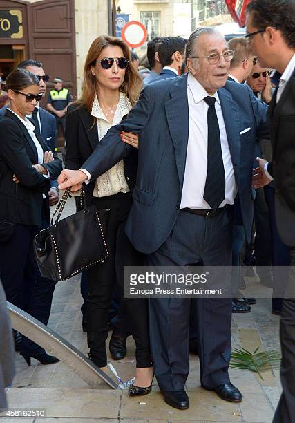 Victoriano Valencia and Paloma Cuevas attend the funeral for the Spanish bullfighter Jose Maria Manzanares at Cathedral of San Nicolas on October 30...