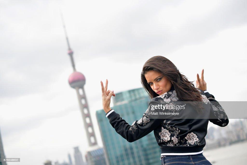 Victoria's Secret Angel Adriana Lima arrives in Shanghai for the Victoria's Secret Fashion Show at Mandarin Oriental Hotel on November 18, 2017 in Shanghai, China.