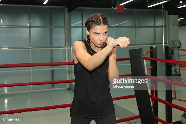 Victoria's Secret Angel Adriana Lima trains for the 2016 Victoria's Secret Fashion Show at Aerospace High Performance Center on November 21 2016 in...