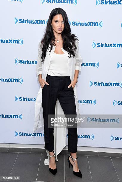 Victoria's Secret Angel Adriana Lima visits at SiriusXM Studio on September 7 2016 in New York City