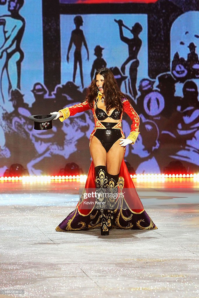 Victoria's Secret Angel <a gi-track='captionPersonalityLinkClicked' href=/galleries/search?phrase=Adriana+Lima&family=editorial&specificpeople=182444 ng-click='$event.stopPropagation()'>Adriana Lima</a> walks the runway during the 2012 Victoria's Secret Fashion Show at the Lexington Avenue Armory on November 7, 2012 in New York City.