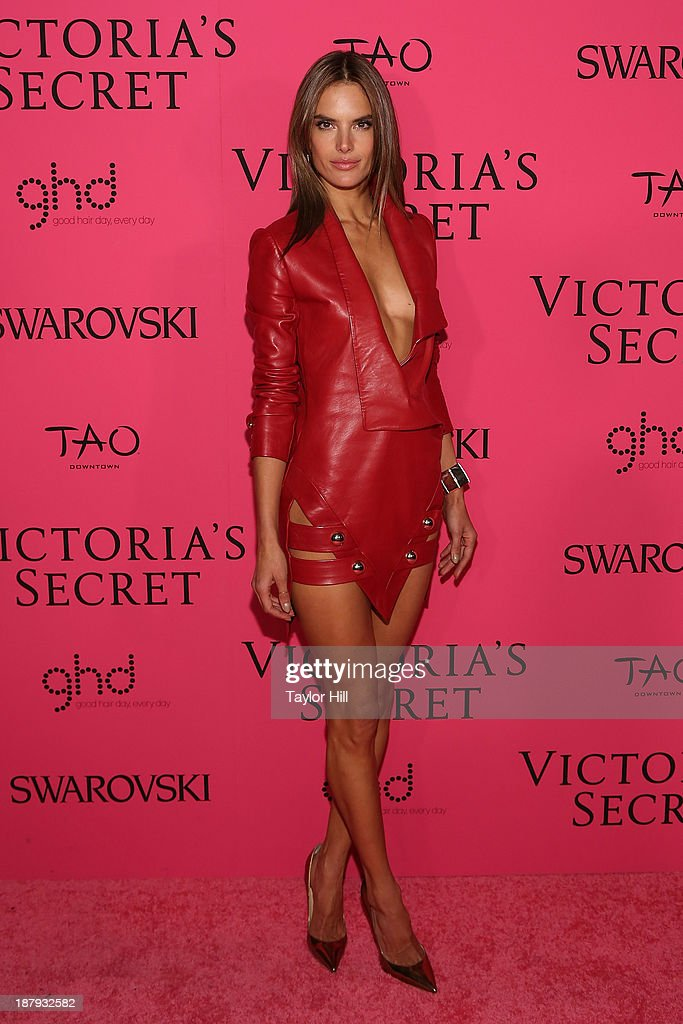 Victoria's Secret Angel Alessandra Ambrosio attends the after party for the 2013 Victoria's Secret Fashion Show at TAO Downtown on November 13, 2013 in New York City.