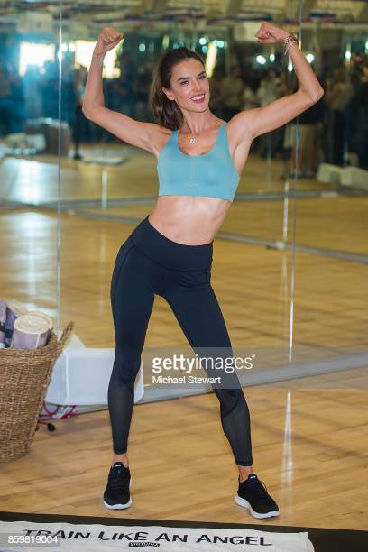 Victoria's Secret Angel Alessandra Ambrosio attends 'Train Like An Angel' at Tracy Anderson Method Studio on October 10 2017 in New York City