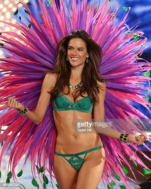 Victoria's Secret Angel Alessandra Ambrosio walks the runway at the 2015 Victoria's Secret Fashion Show at Lexington Avenue Armory on November 10...